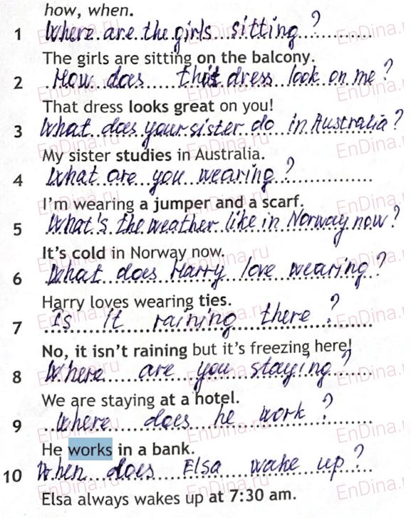 Spotlight 5. Workbook - Module 7. 7 Grammar Practice, ответ 2
