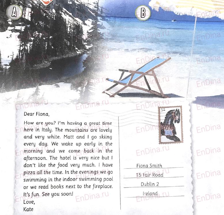 Spotlight 5. Workbook - Module 7. 7d Writing (a postcard), ответ 1