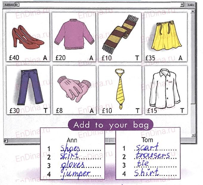 Spotlight 5. Workbook - Module 7. 7b Dress right!, ответ 1