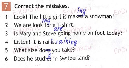 Spotlight 5. Workbook - Module 7. 7 Grammar Practice, ответ 7