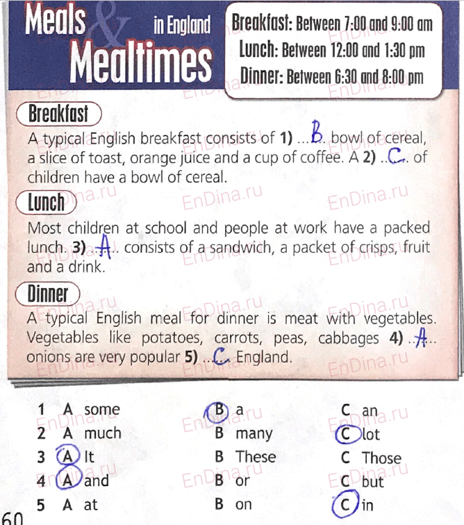 Spotlight 5. Workbook - Module 8. 8b Master chef, ответ 3