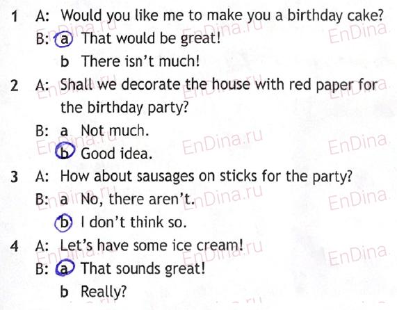 Spotlight 5. Workbook - Module 8. 8с It's my birthday!, ответ 2