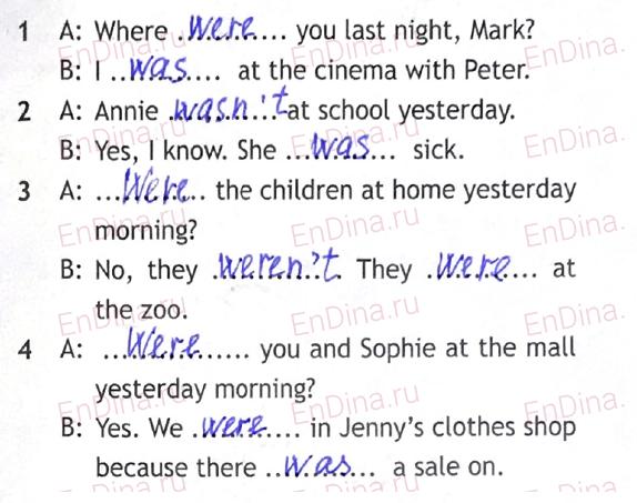 Spotlight 5. Workbook - Module 9. 9a Going shopping, ответ 4