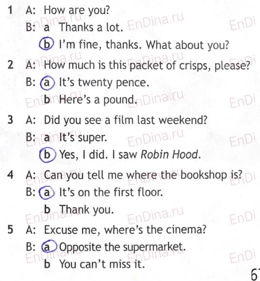 Spotlight 5. Workbook - Module 9. 9c Don't miss it!, ответ 4