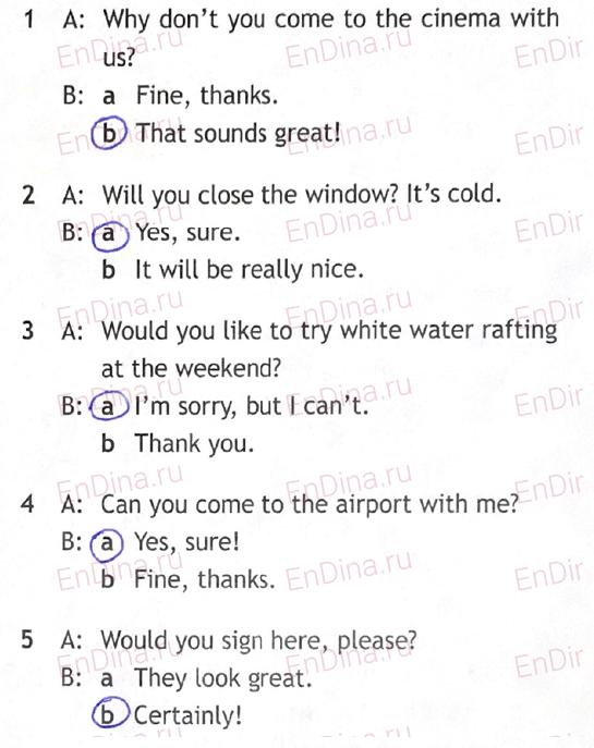 Spotlight 5. Workbook - Module 10. 10c Just a note, ответ 3