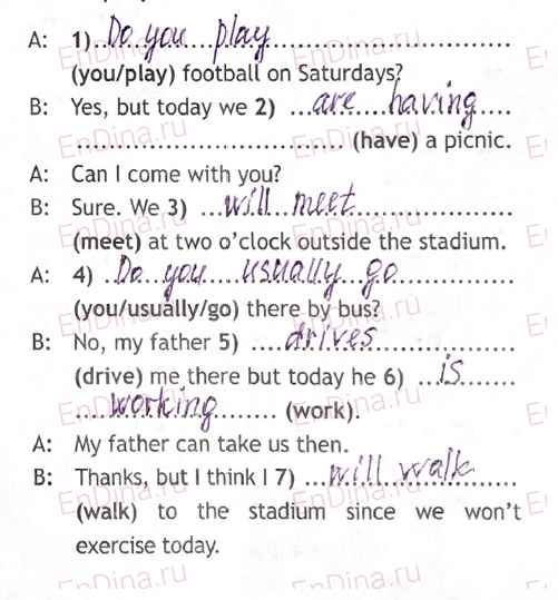Spotlight 5. Workbook - Revision Section. Tense Revision, ответ 4