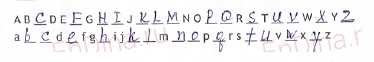 Spotlight 5. Workbook - Starter. The English alphabet (IV), ответ 1