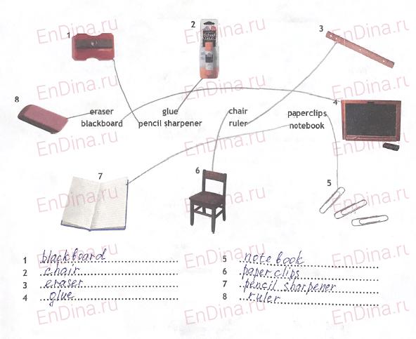 Spotlight 5. Workbook - Starter. Classroom objects, ответ 2