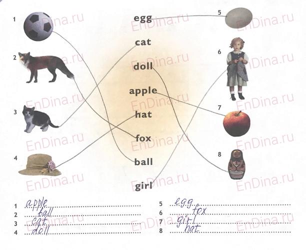 Spotlight 5. Workbook - Starter. The English alphabet (I), ответ 2