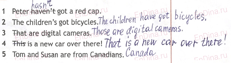 Spotlight 5. Workbook - Module 2. 2 Grammar Practice, ответ 9