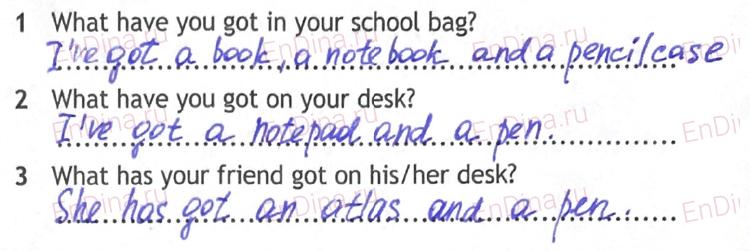 Spotlight 5. Workbook - Module 2. 2 Grammar Practice, ответ 3
