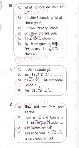 Spotlight 5. Workbook - Module 1. 1b Firstday, ответ 3