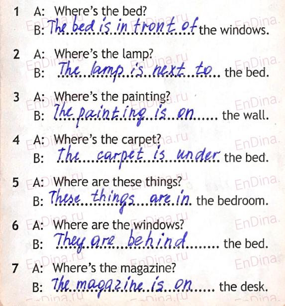 Spotlight 5. Workbook - Module 3. 3c My bedroom, ответ 2