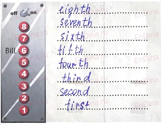 Spotlight 5. Workbook - Module 3. 3a At home, ответ 4
