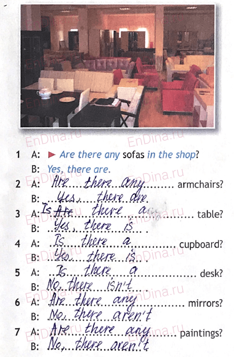 Spotlight 5. Workbook - Module 3. 3 Grammar Practice, ответ 2