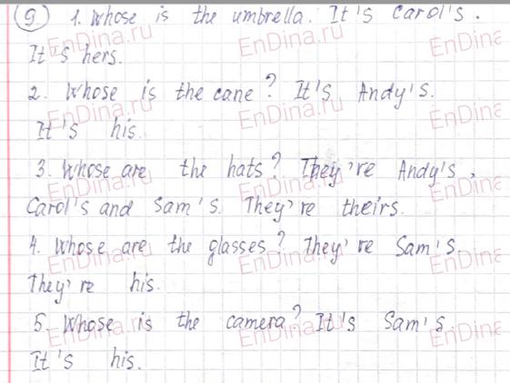Spotlight 6. Workbook - Module 1. 1 Grammar Practice, ответ 11